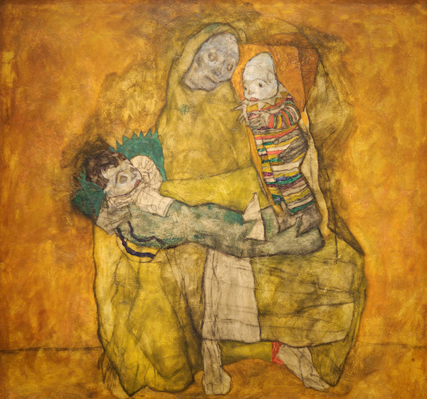 Mother with two children II, 1915, Egon Schiele